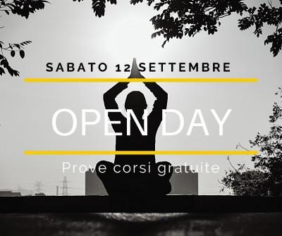 Sabato 12  Settembre: Open Day gratuito